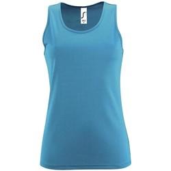 textil Dam Linnen / Ärmlösa T-shirts Sols SPORT TT WOMEN Azul