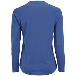 textil Dam Långärmade T-shirts Sols SPORT LSL WOMEN Azul