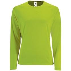 textil Dam Långärmade T-shirts Sols SPORT LSL WOMEN Verde