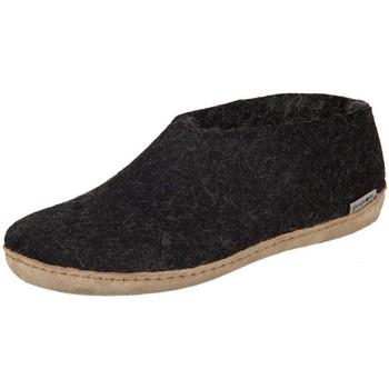 Skor Dam Tofflor Glerups DK Shoe Charcoal Lammwollfilz Svarta