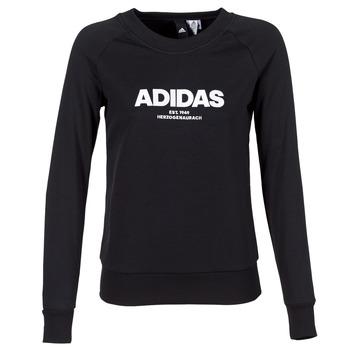 textil Dam Sweatshirts adidas Originals ESS ALLCAP SWT Svart
