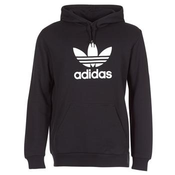 textil Herr Sweatshirts adidas Originals TREFOIL HOODIE Svart