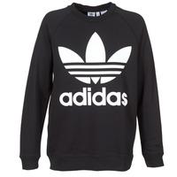 textil Dam Sweatshirts adidas Originals OVERSIZED SWEAT Svart
