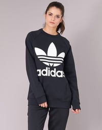 textil Dam Sweatshirts adidas Originals OVERSIZED SWEAT Svart
