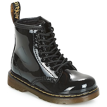 Skor Flickor Boots Dr Martens 1460 PATENT CADET Svart