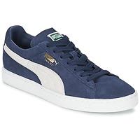Skor Sneakers Puma SUEDE CLASSIC Blå / Vit