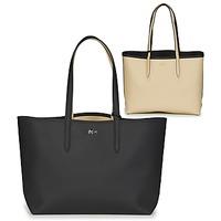Väskor Dam Shoppingväskor Lacoste ANNA Svart / Beige