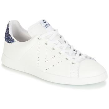 Skor Flickor Sneakers Victoria DEPORTIVO BASKET PIEL Vit / Blå