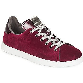 Skor Dam Sneakers Victoria DEPORTIVO TERCIOPELO Bordeaux