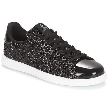 Skor Dam Sneakers Victoria DEPORTIVO BASKET GLITTER Svart