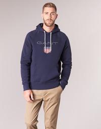 textil Herr Sweatshirts Gant GANT SHIELD SWEAT HOODIE Marin