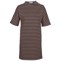 textil Dam Korta klänningar Petit Bateau TUESDAY Marin / Gul