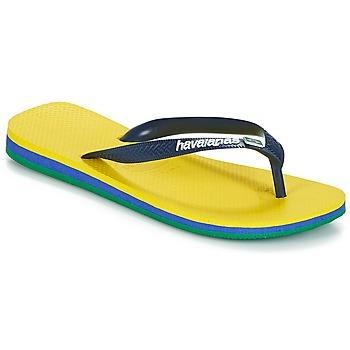 Skor Herr Flip-flops Havaianas Brasil Layers Gul