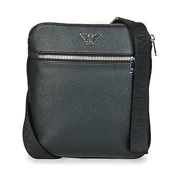 Väskor Herr Portföljer Emporio Armani BUSINESS FLAT MESSENGER BAG Svart