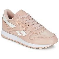 Skor Dam Sneakers Reebok Classic CLASSIC LEATHER Rosa / Vit