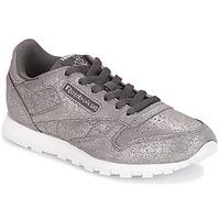 Skor Flickor Sneakers Reebok Classic CLASSIC LEATHER J Grå / Metallfärg