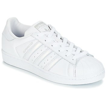 Skor Dam Sneakers adidas Originals SUPERSTAR W Vit / Silver