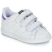 Skor Flickor Sneakers adidas Originals STAN SMITH CF I Vit / Silver