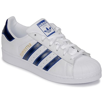 Skor Sneakers adidas Originals SUPERSTAR Vit / Blå