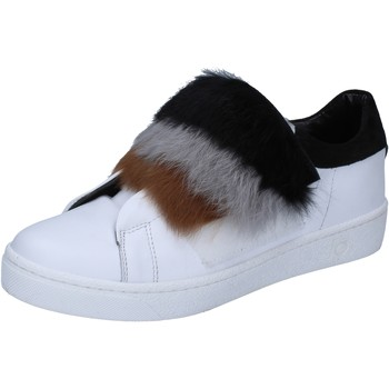 Skor Dam Sneakers Islo sneakers bianco pelle pelliccia BZ211 Bianco