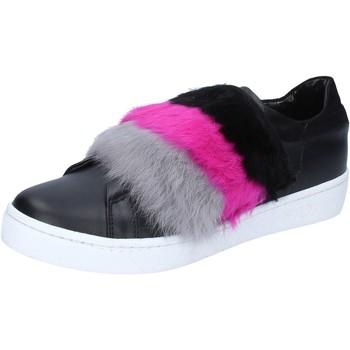 Skor Dam Sneakers Islo sneakers nero pelle pelliccia BZ213 Nero