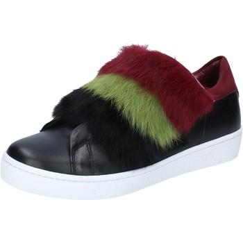 Skor Dam Sneakers Islo sneakers nero pelle pelliccia bordeaux BZ214 Nero
