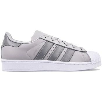Skor Barn Sneakers adidas Originals Superstar J Gråa, Silver