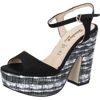 Skor Dam Sandaler Geneve Shoes Sandaler BZ893 Svart
