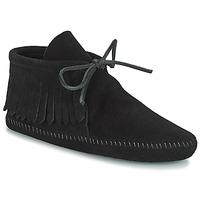 Skor Dam Boots Minnetonka CLASSIC FRINGE Svart
