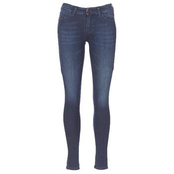 textil Dam Skinny Jeans Diesel SLANDY Blå