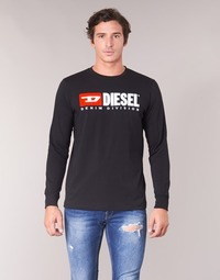 textil Herr Långärmade T-shirts Diesel T JUST LS DIVISION Svart