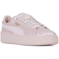 Skor Dam Sneakers Puma BASKET PLATFORM TWEEN JR Rosa