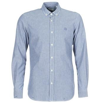 textil Herr Långärmade skjortor Serge Blanco 15 DOS Blå