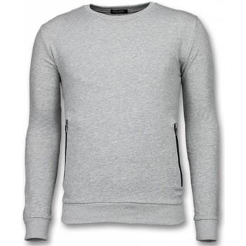 textil Herr Sweatshirts Enos Crewneck Knappar FFG Grå