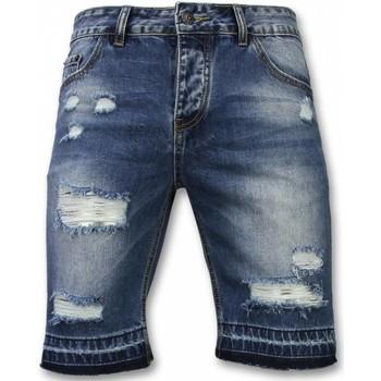 textil Herr Shorts / Bermudas Enos Slitna Shorts Jeansshorts JB Blå