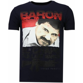 textil Herr T-shirts Local Fanatic Cocaine Cowboy Baron N Blå