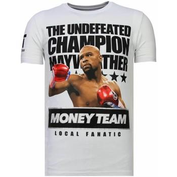 textil Herr T-shirts Local Fanatic Money Team Champ Rhinestone W Vit