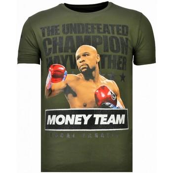 textil Herr T-shirts Local Fanatic Money Team Champ Rhinestone K Khaki Grön