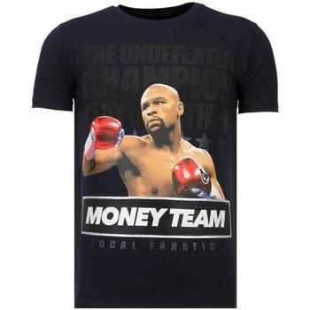 textil Herr T-shirts Local Fanatic Money Team Champ Rhinestone N Blå