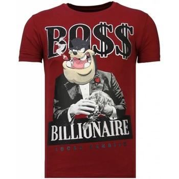 textil Herr T-shirts Local Fanatic Billionaire Boss Rhinestone B Bordeaux