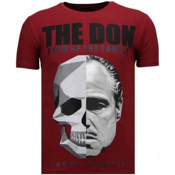 textil Herr T-shirts Local Fanatic The Don Skull Rhinestone B Bordeaux