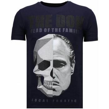 textil Herr T-shirts Local Fanatic The Don Skull Rhinestone N Blå