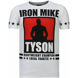 textil Herr T-shirts Local Fanatic Iron Mike Tyson Rhinestone W Vit