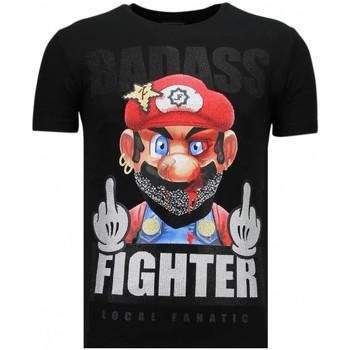 textil Herr T-shirts Local Fanatic Fight Club Mario B Z Svart