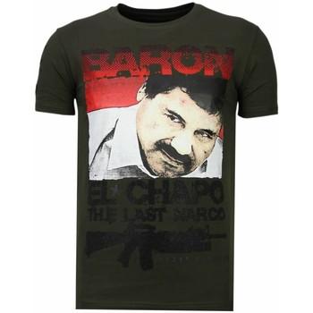 textil Herr T-shirts Local Fanatic Cocaine Cowboy Baron K Khaki Grön