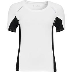 textil Dam T-shirts Sols CAMISETA RUNNING MANGA CORTA MUJER Blanco