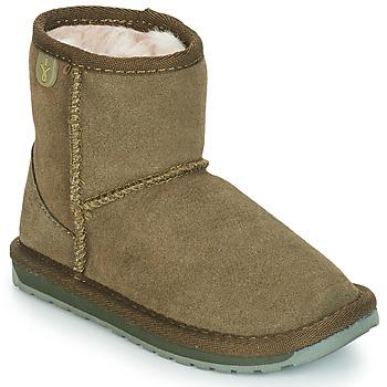 Skor Flickor Boots EMU WALLABY MINI Kaki