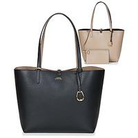 Väskor Dam Shoppingväskor Lauren Ralph Lauren MERRIMACK REVERSIBLE TOTE MEDIUM Svart / Mullvadsfärgad