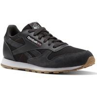 Skor Barn Sneakers Reebok Sport CL Leather Estl Svarta, Grafit