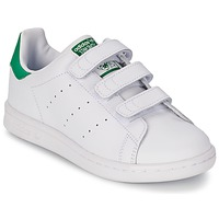 Skor Barn Sneakers adidas Originals STAN SMITH CF C Vit / Grön